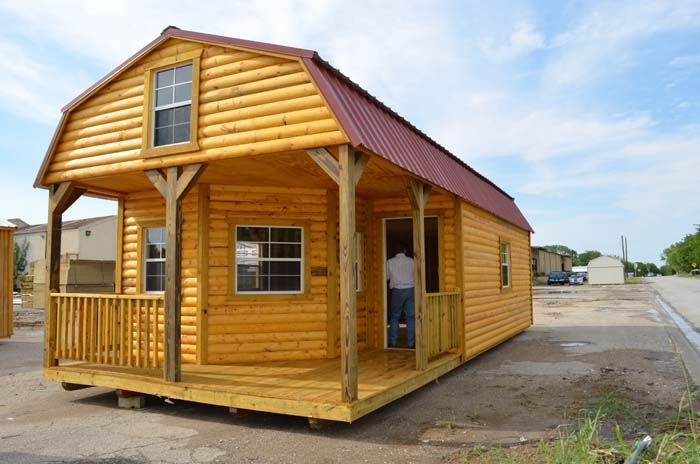 Derksen portable buildings purchase or rent to own no for Small portable shed