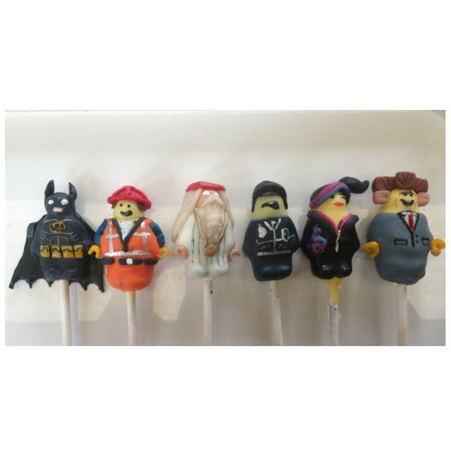The lego movie cake pops