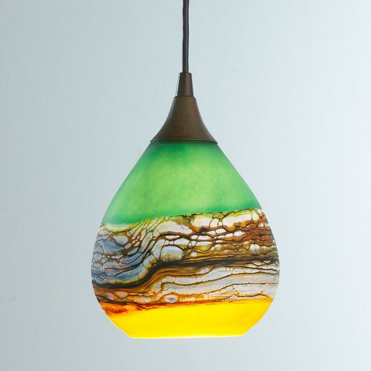 Colored Glass Kitchen Lighting