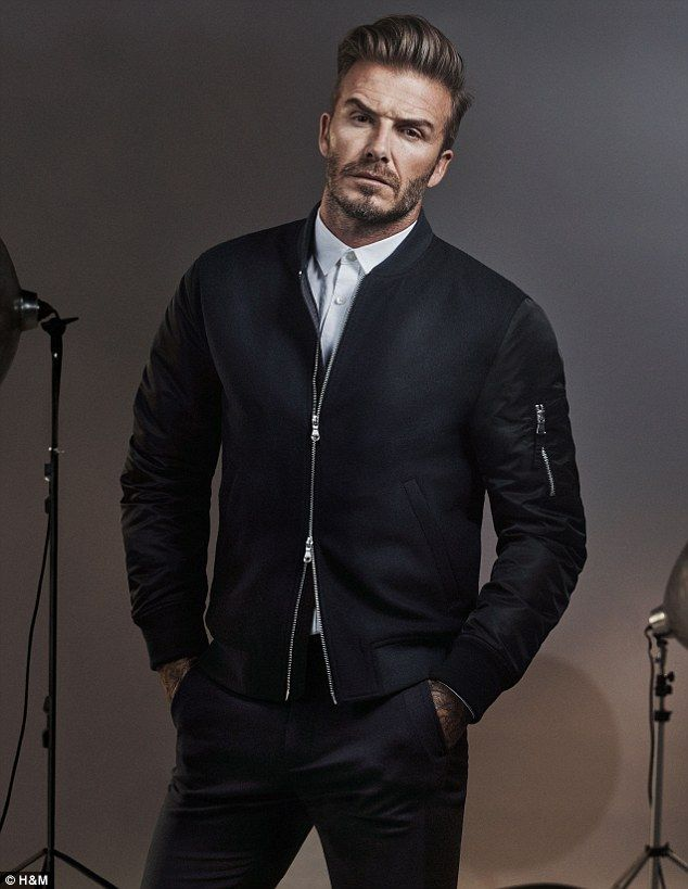 David Beckham in a photo shoot for H&M. via MailOnline