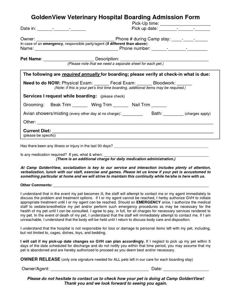 veterinary treatment sheets