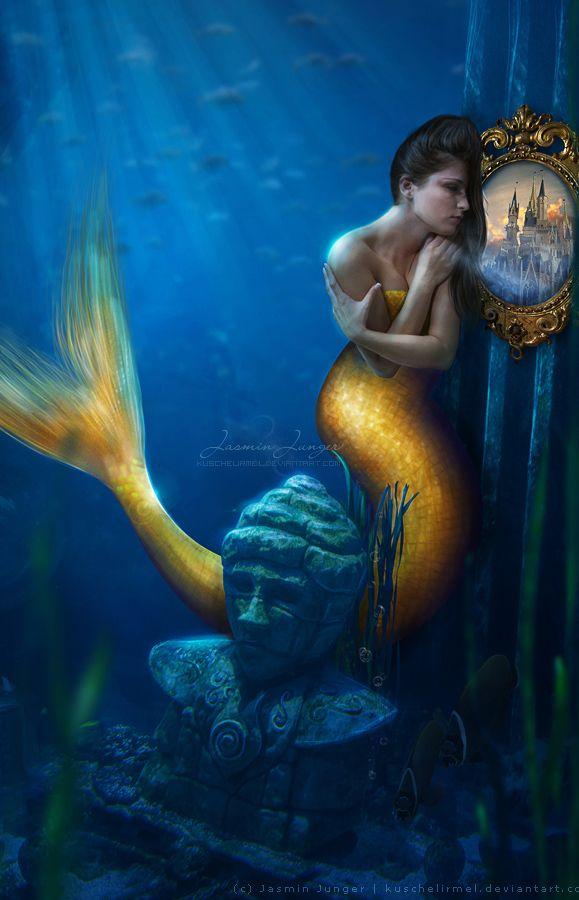 Mermaid's Dream by kuschelirmel on DeviantArt (detail)