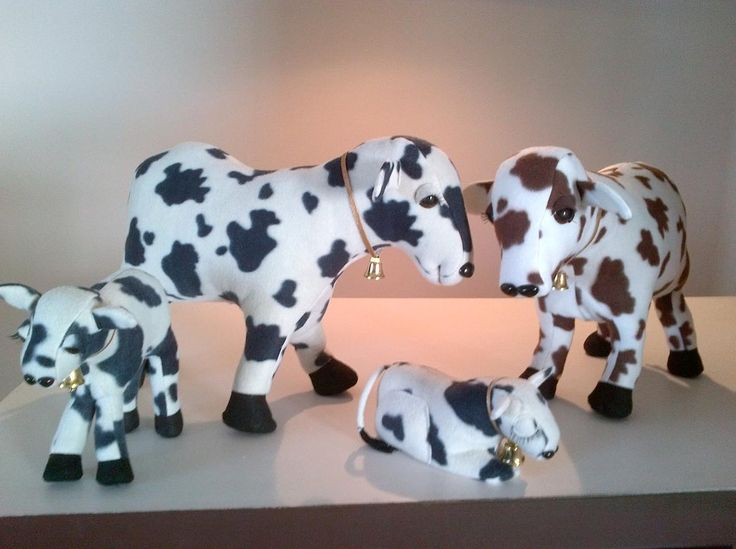 Stuffed Cows - Mom and Babies | Craftsy