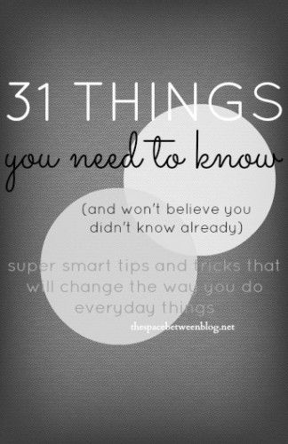 31 things you need to know