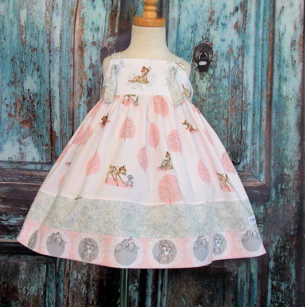 0a7e688088d66 Bambi Knot Dress Custom Size 12M 18M 24M 2T 3T 4T 5 6 7 8 10 12 14 ...