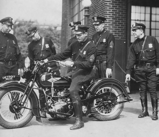 historic police motorcycle pictures | Detroit History / August 10, 1934. Detroit Police Motorcycle Division.