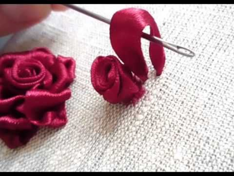 Мастер-класс по вышивке лентами №1.Tutorial for embroidery. - YouTube