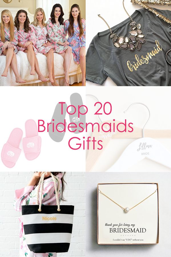 Thank your bridesmaids with the perfect personalized gift!