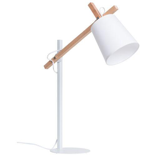 Cechy i korzyści: Stylowa lampka na biurko, komodę lub regał. Lampa posiada gwint na żarówkę E14 o maksymalnej mocy 40W. Żarówkę należy dokupić osobno. Abażur z zewnątrz pokryty jest tkaniną. ...