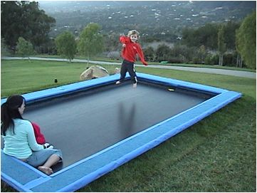 The Trampolines 15-Foot Rectangle Trampoline and Enclosure with long. #RectangleTrampoline #Trampoline #besttrampoline7