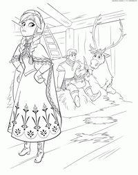 Принцесса Анна Холодное сердце - скачать и распечатать раскраску. Раскраска Раскраска принцесса Анна Холодное сердце, картинки холодное сердце принцесса анна, принцесса анна холодное сердце мультфильм, принцесса анна фото холодное сердце для раскрашивания