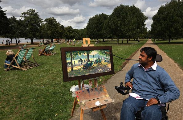 Keith Jansz Photos: Mouth And Foot Painting Artists' Hold Their Annual Painting In The Park