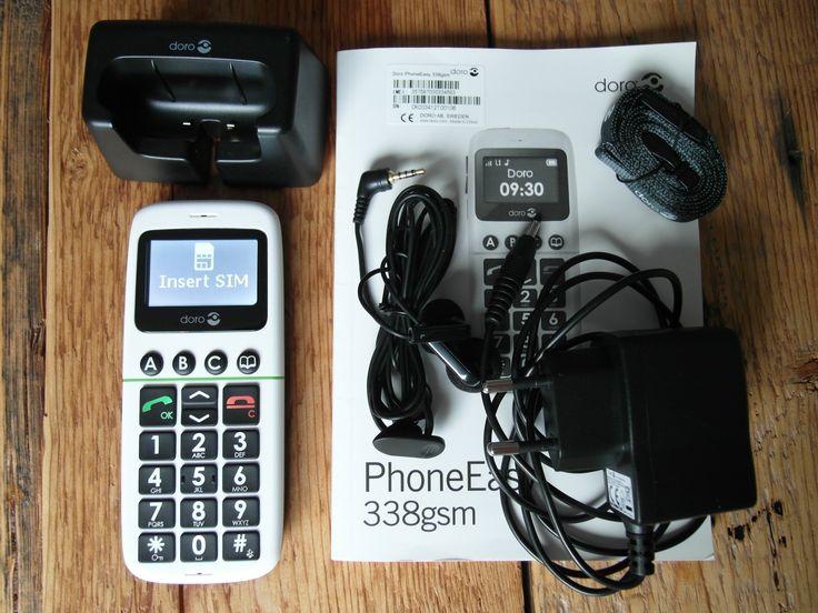 #VERKOCHT #SOLD  #Seniorentelefoon #Doro 338 #wit #GSM #makkelijk #licht #senioren #simlockvrij
