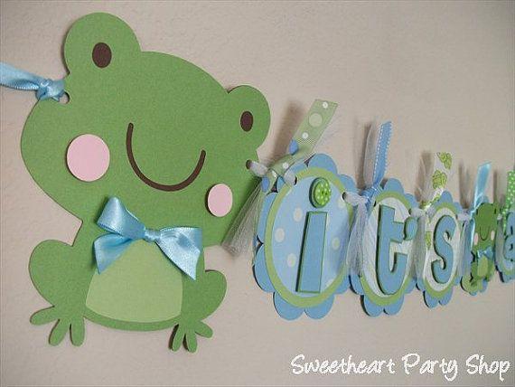 Frog Baby Shower Banner  @Laura Johnson  @Michele Bekkering