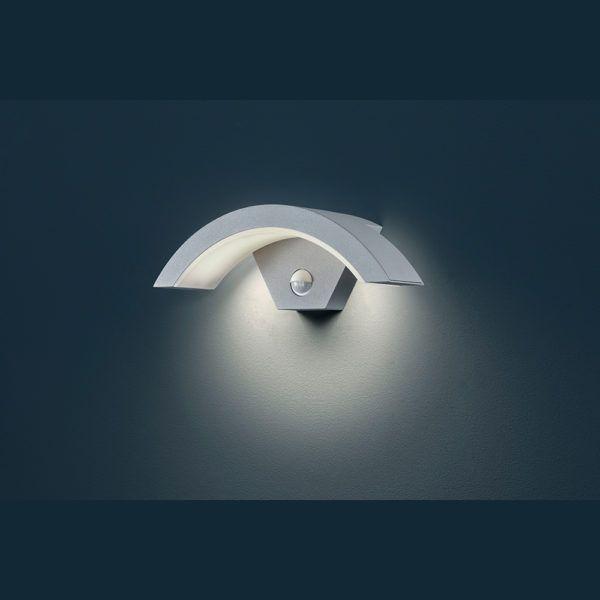 Led Aussen Wandleuchte In Gebogenem Design Mit Bewegungsmelder Led Led Leuchten Wandleuchte