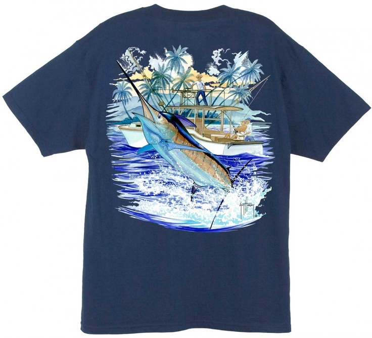 Guy Harvey Shirts - Guy Harvey Marlin Boat 2 Men's Back-Print Tee w/ Pocket in Ocean Blue, Cardinal, Navy, Stonewashed Green or White, $19.95 (http://www.guyharveyshirts.com/guy-harvey-marlin-boat-2-mens-back-print-tee-w-pocket-in-ocean-blue-cardinal-navy-stonewashed-green-or-white/)