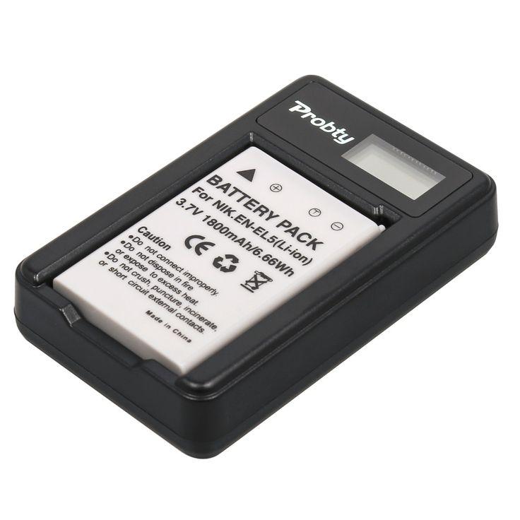 >> Click to Buy << Probty 1pcs EN-EL5 ENEL5 Battery  + LCD USB Charger For Nikon P90 P100 P500 P510 P520 P3 P4 P5000 P5100 P6000 P80 S10 4200 5200 #Affiliate