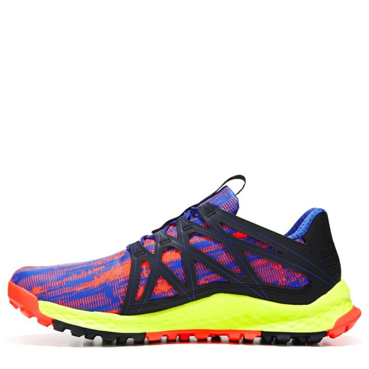 Adidas Men's Vigor Bounce Trail Running Shoes (Blue/Black/Yellow)