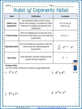 Worksheets Product Rule And Quotient Rule Exponents Worksheet 17 best images about math on pinterest decimal rational numbers exponents and scientific notation unit resources geekmath 8core mathproduct rulethe