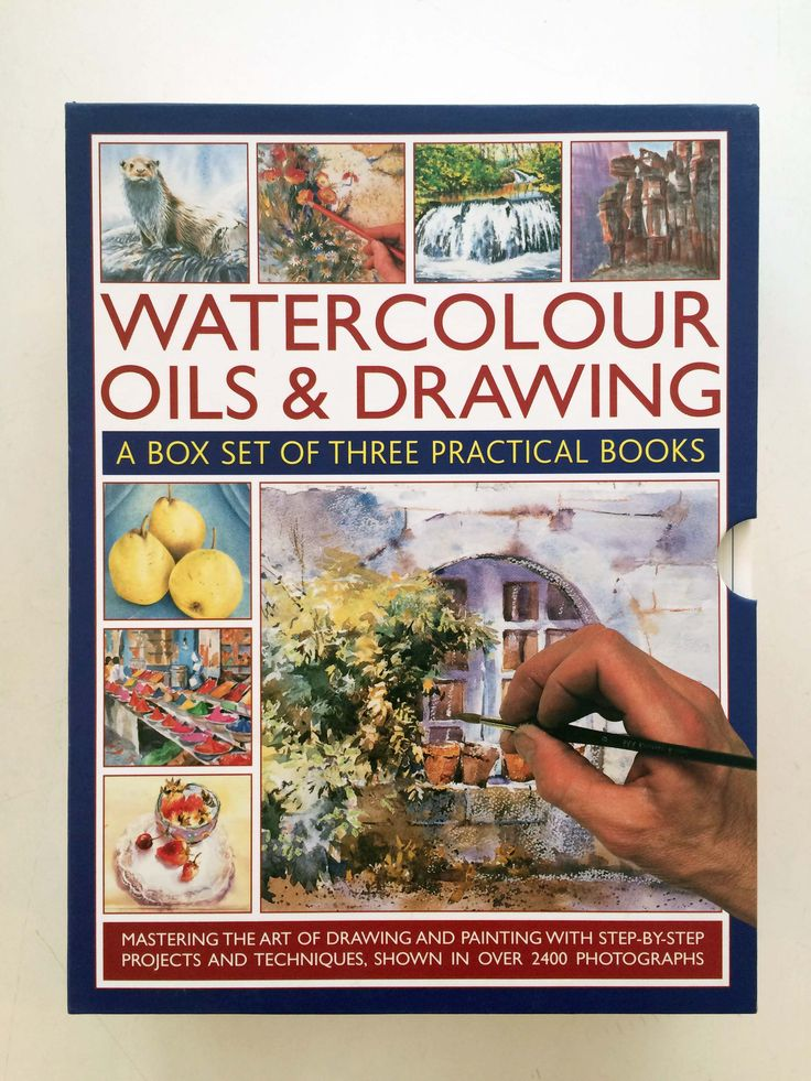 Learn all about watercolour, oil and drawing with this fantastic box set of practical books