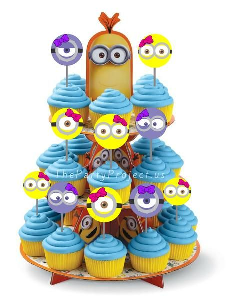 Decorate your Girl Minions candy bar or dessert table with these adorable Pink Minion cupcake toppers! Perfect for a Girl Despicable Me birthday party or bay shower!