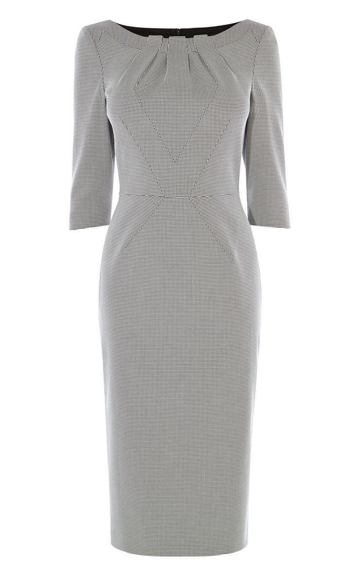 CHECKED PENCIL DRESS   Luxury Women's new-in_garments   Karen Millen