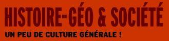 HISTOIRE-GÉO & SOCIÉTÉ