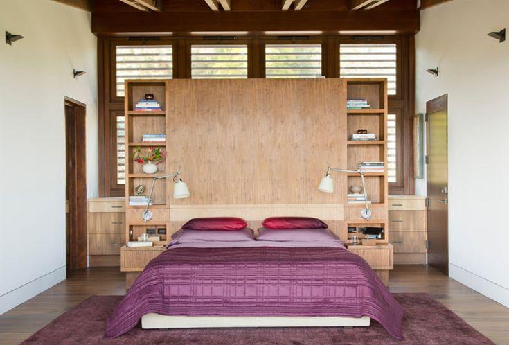holz schlafzimmer bett kopfteil nachttische konstruktion - feng shui schlafzimmer bett