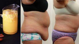 Chaque soir et avant d'aller au lit, elle buvait 1 VERRE de ce mélange…En 15 jours, elle a éliminé la graisse tenace du ventre !