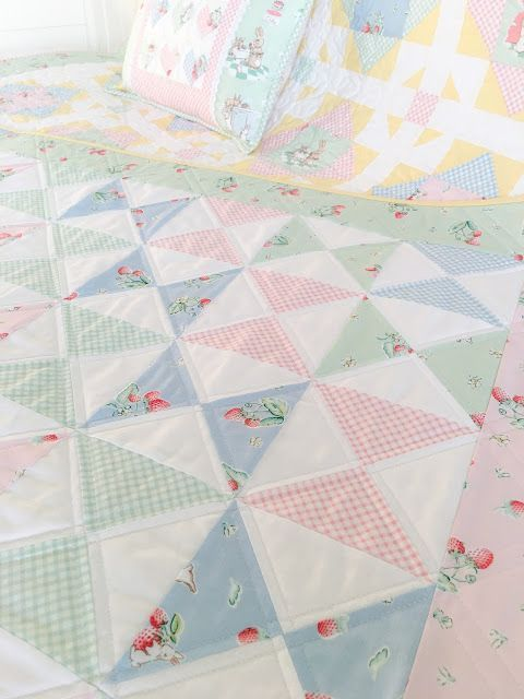Carried Away Quilting: Bunnies and Cream Blog Tour: Hour Glass Baby Quilt