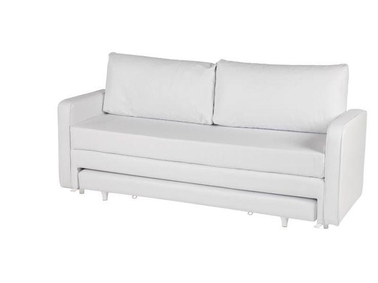 Feito pela Phenix, que produzia os colchões Pierre Cardin, o Sofá Cama Phenix Pratic 5 em 1 é revestido em Courino Náutico Branco, é prático, versátil e criativo, essa única peça tem 5 múltiplas utilidades. Você pode usar como sofá, uma cama de casal, uma, duas ou três camas de solteiro.