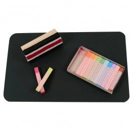 Kids Chalkboard with Waldorf colored Blackboard Chalk and wooden-handled eraser. $28.95
