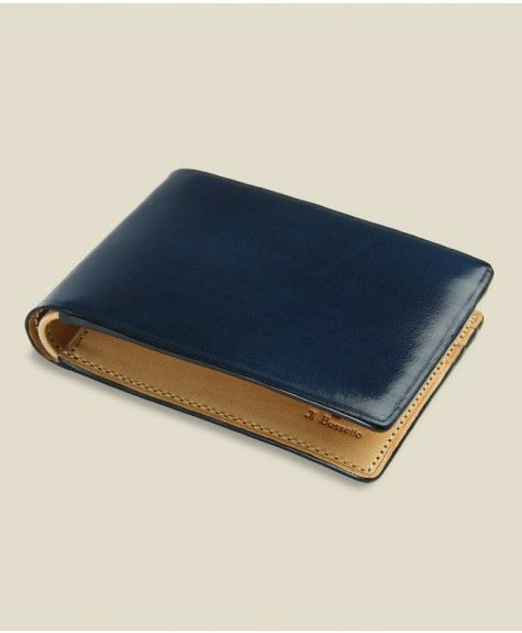 Il Bussetto - Small Bi-Fold Wallet - Navy