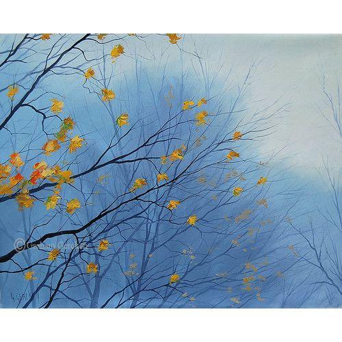 Graham Gercken Oil Painting Last Autumn Days Hand Painted Oil on Canvas