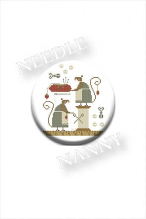 "MAGNETIC NEEDLE KEEP ""Mice In The Sewing Room"" 
