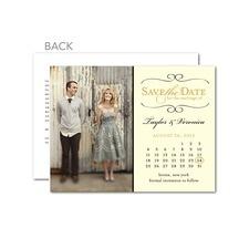 Restored Calendar Save The Date Cards