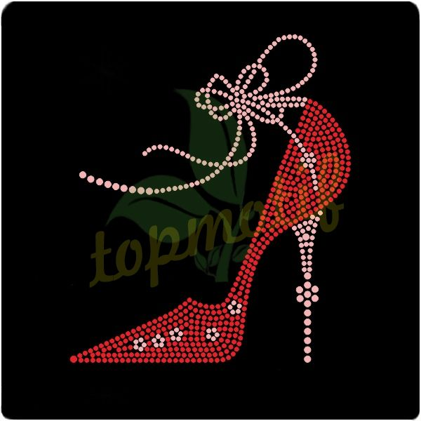 High-Heeled Shoes Hot Fix Rhinestone Transfer Motif