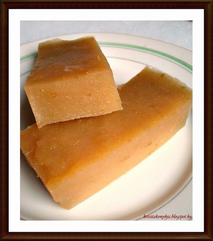 Kriszta konyhája- Sütni,főzni bárki tud!: Paleo birsalmasajt