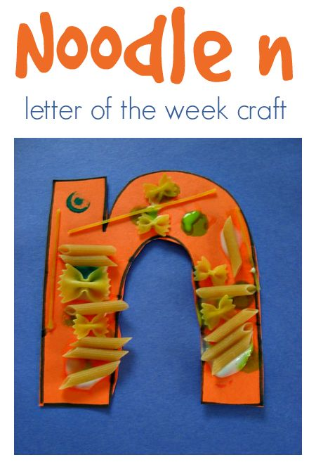 Fun letter of the week craft idea for letter n.