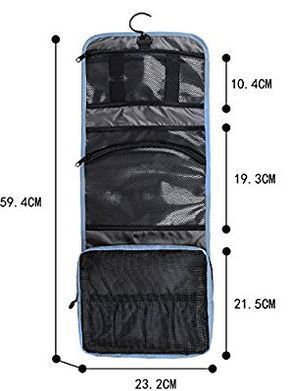 BAGSMART Folding Hanging Toiletry Bag Roll up Makeup Organizer Cosmetic Bag  Portable Travel Kit Organizer Household Storage Pack Bathroom Storage with  ... e27271d3561e6