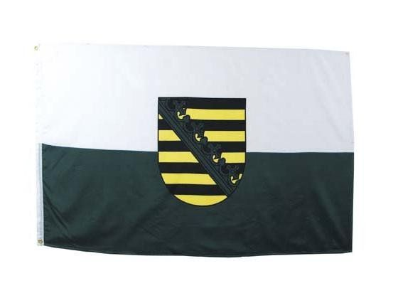 MFH Fahne, Sachsen 90 x 150 / mehr Infos auf: www.Guntia-Militaria-Shop.de