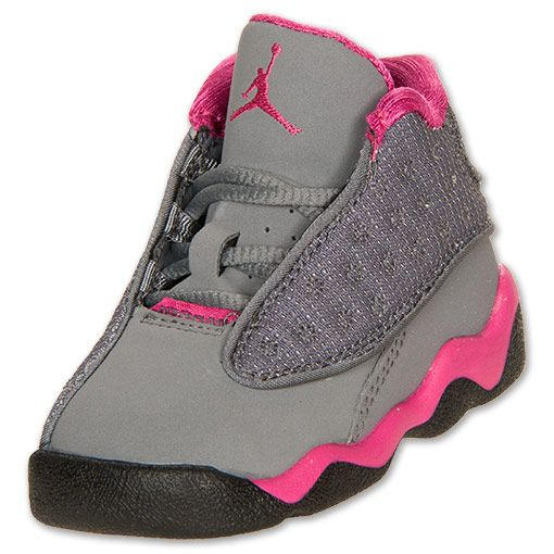 air jordan shoes for girls grey. girls\u0027 toddler air jordan retro 13 basketball shoes | finishline.com cool grey for girls g