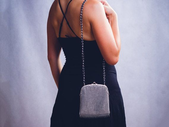 Chainmaille little handbag by DreamHandmadee on Etsy