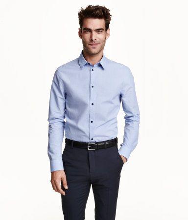 最高品質。プレミアムコットンのシャツ。ジャカード織り柄。ターンダウンカラー。レギュラーフィット。