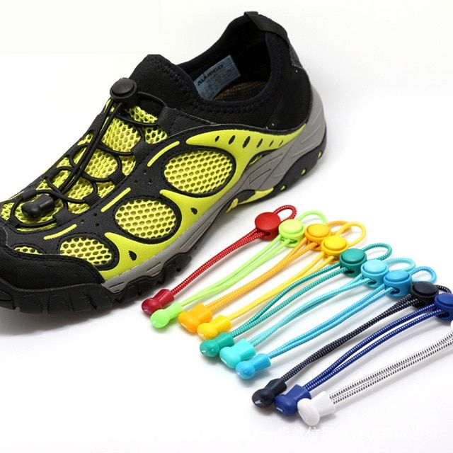 Elastic Lock Shoe Laces Triathlon Running Trainers Boots Elasticated Shoelace