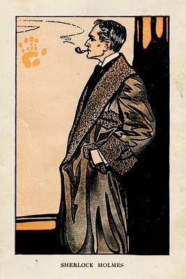 Vintage Sherlock Holmes Illustration