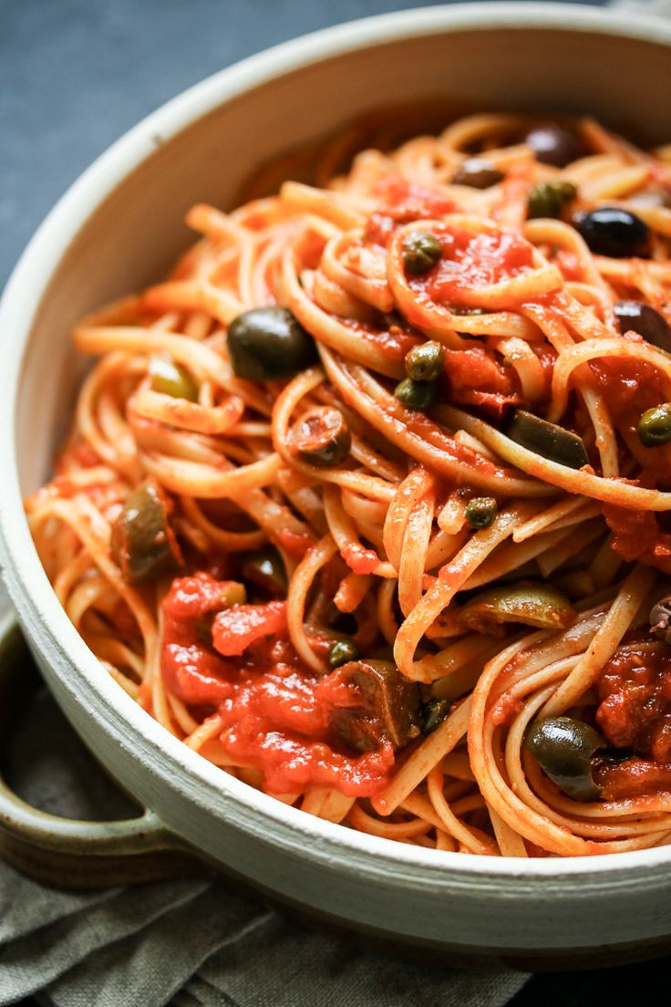 Keep your pantry stocked with a few basic ingredients and you can whip up linguine puttanesca any night of the week!