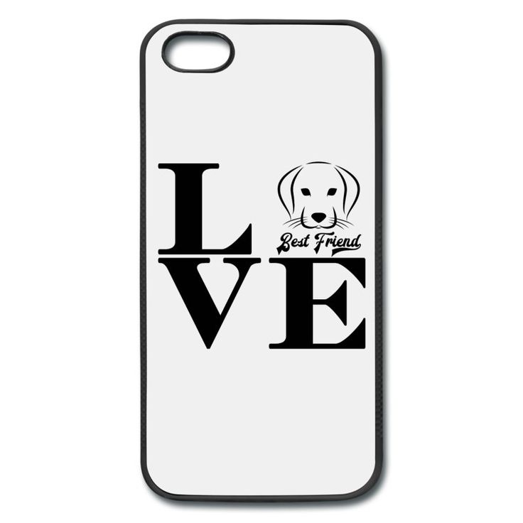 Printed Shirt · Hund im Schriftzug Love · Best Friend
