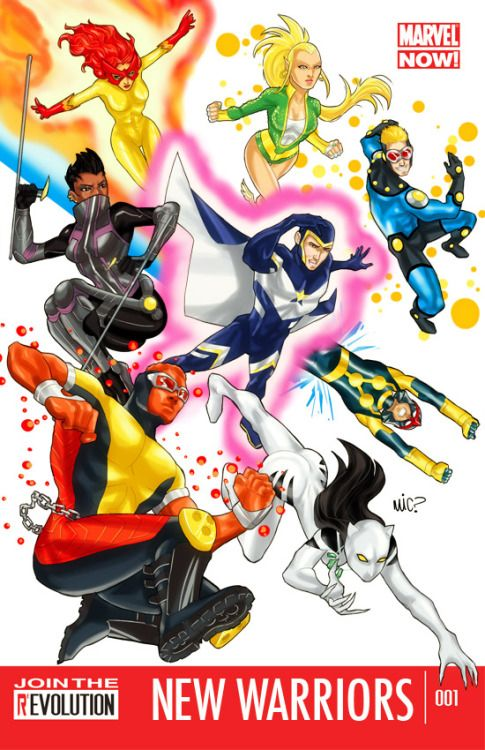 A mock cover of New Warriors as Marvel NOW for CBR's The Line is Drawn CBR The Line is Drawn - Marvel NOW