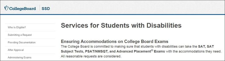College Board - Students with Disabilities